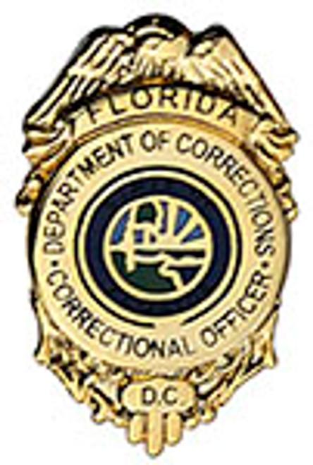 FLORIDA DEPARTMENT OF CORRECTIONS BADGE LAPEL PIN