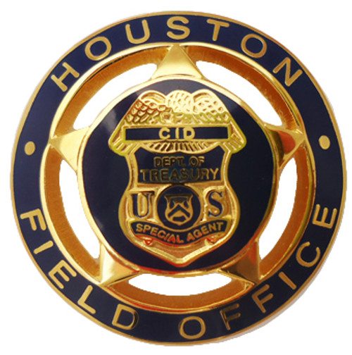 CID Department of Treasury Houston Field Office Special Agent Badge Lapel Pin