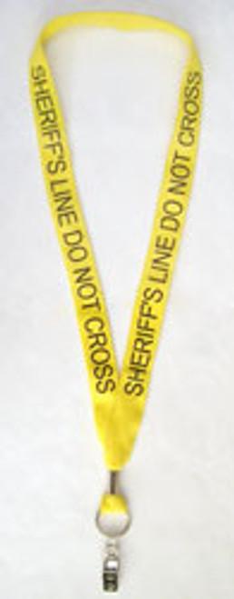 Yellow 'Sheriff Line Do Not Cross' Lanyard