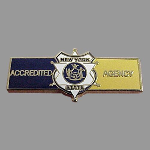 New York State NYS Accreditation Small Bar Pin (Blue/Yellow)