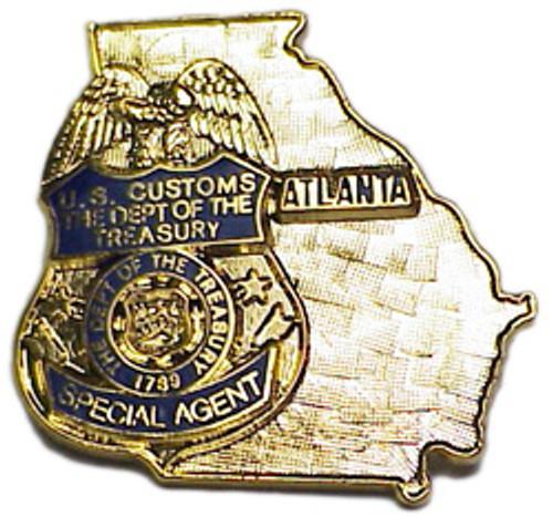US Customs Atlanta Lapel Pin
