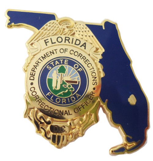 FL Department of Corrections Correctional Officer Badge Lapel Pin