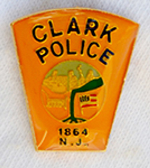Clark Police New Jersey Patch Lapel Pin