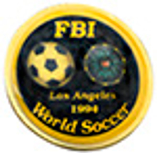 FBI WORLD SOCCER LAPEL PIN