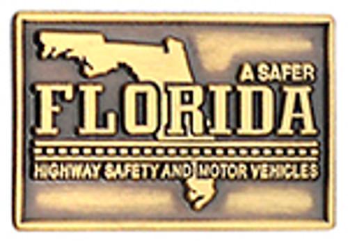 FLORIDA HIGHWAY PATROL SAFETY & MOTOR VEHICLES LAPEL PIN