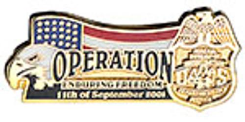FBI OPERATION ENDURING FREEDOM LAPEL PIN