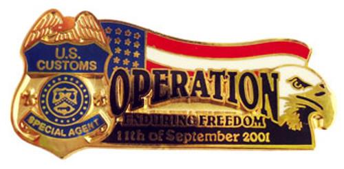 Operation Enduring Freedom US Customs Commemorative Lapel Pin