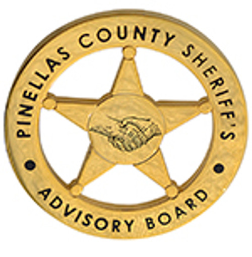 PINELLAS COUNT5Y SHERIFF'S ADVISORY BOARD LAPEL PIN