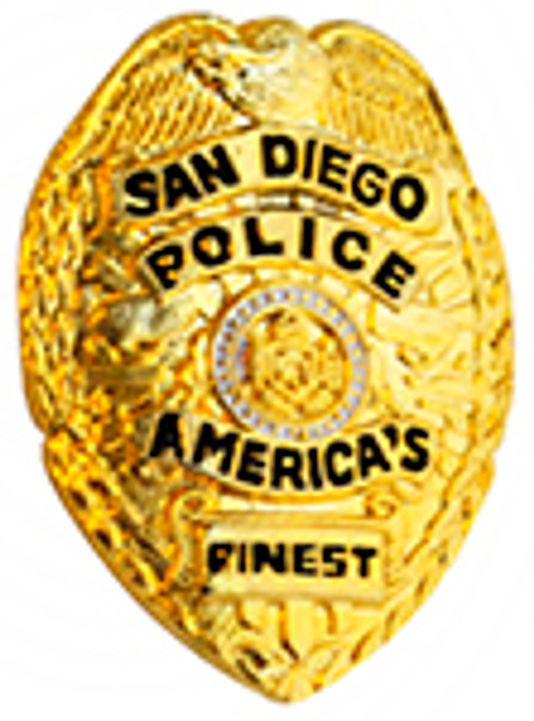 SAND DIEGO Police Department Lapel Pin, GOLD