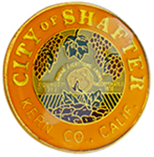 City of Shafter,  Kern County, California Lapel Pin