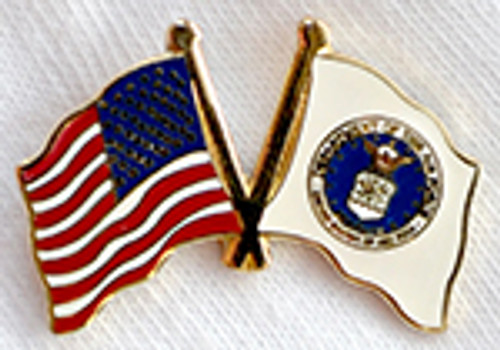 UNITED STATES AIR FORCE USA FLAG LAPEL PIN