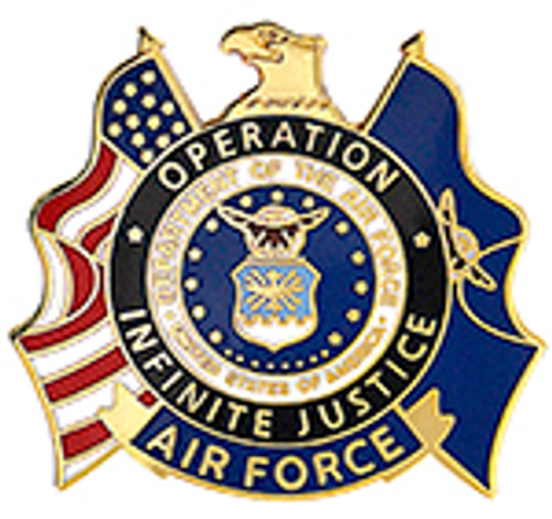 AIR FORCE OPERATION INFINITE JUSTICE LAPEL PIN