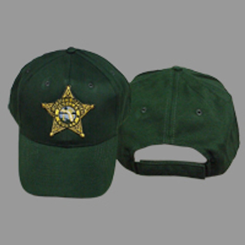 Pinellas County Sheriff's Office Gold Star Green Hat