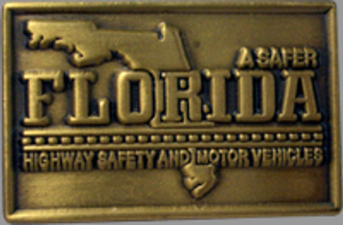 Florida Highway Safety & Motor Vehicles Gold Pin