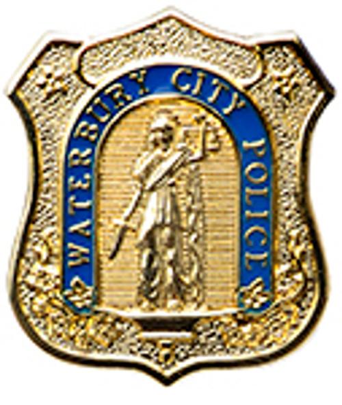 WATERBURY POLICE BADGE LAPEL PIN
