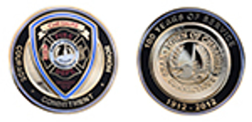 Cheshire Connecticut Fire Department Challenge Coin