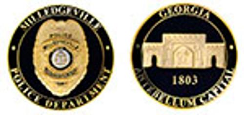 MILLEDGVILLE POLICE DEPARTMENT CHALLENGE COIN