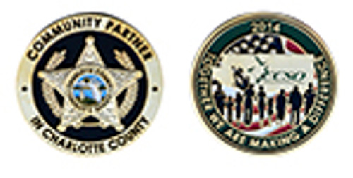 CHARLOTTE COUNTY SHARIFF'S DEPARTMENT CHALLENGE COIN