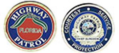 FLORIDA HIGHWAY PATROL CHIEF SURGEON CHALLENGE COIN
