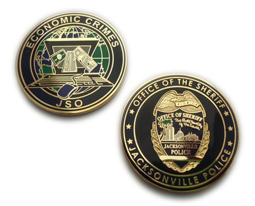 FL Jacksonville Sheriff`s Office Economic Crimes Challenge Coin