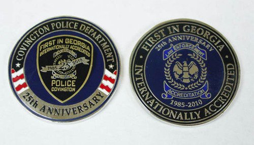 25th Anniversary Covington Law Enforcement Accreditation Coin