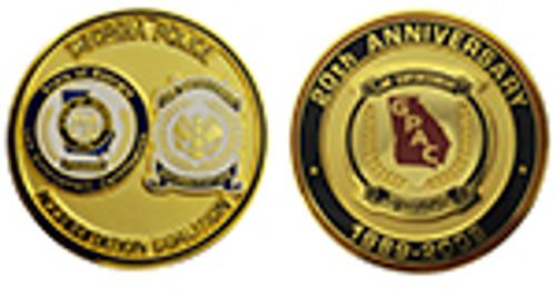 GEORGIA POLICE ACCREDIATION COALITION 20TH ANNIVERSARY COIN