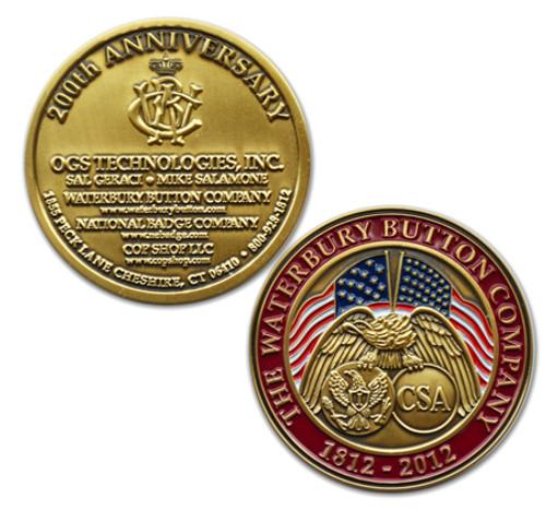 The Waterbury Button Company 200th Anniversary Coin (Satin Finish)
