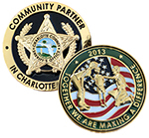 Charlotte County Sheriff's Office Community Partner Coin