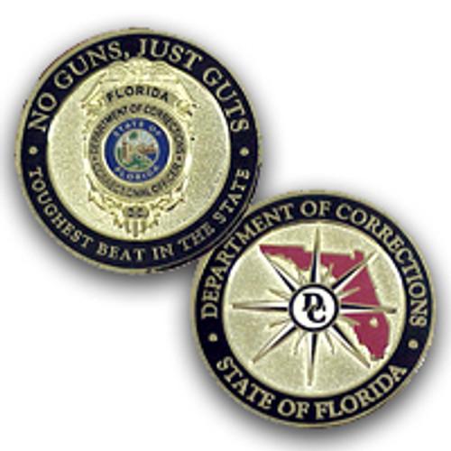 DOC Florida Correctional Officer Gold Coin