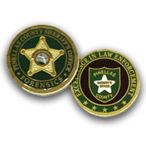 Pinellas County Sheriff's Office Forensics Coin