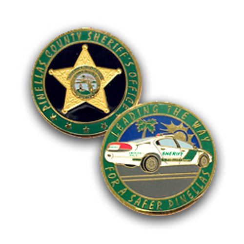 Pinellas County Sheriff's Office Patrol Car Coin