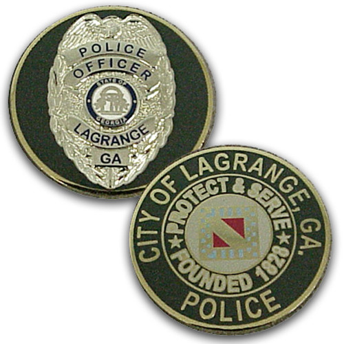 City of LaGrange Police (Georgia) Silver Badge Coin
