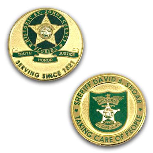 St. Johns County Sheriff's Office Coin