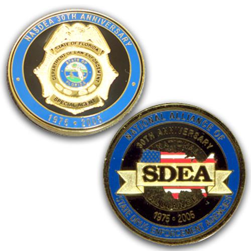 National Alliance of State Drug Enforcement Agencies NASDEA Coin