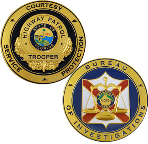 FHP Bureau Of Investigations Coin