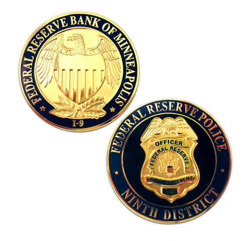 Federal Reserve Bank of Minneapolis Police Ninth District Coin