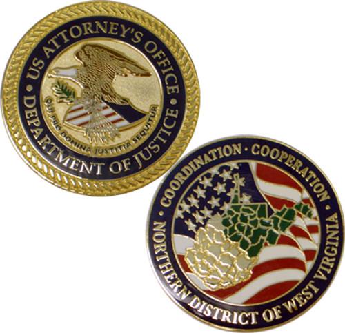 US DOJ Northern District of West Virginia Coin