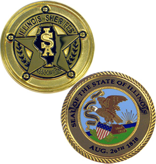 Illinois Sheriff's Association Coin with State Seal