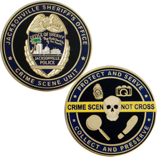 Jacksonville Crime Scene Unit Coin