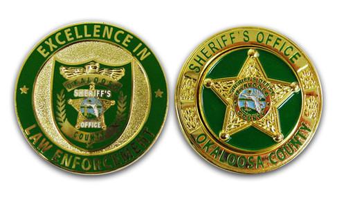 Okaloosa County Sheriff's Office Coin