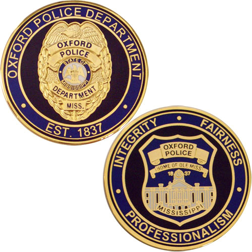 Oxford MS Police Coin