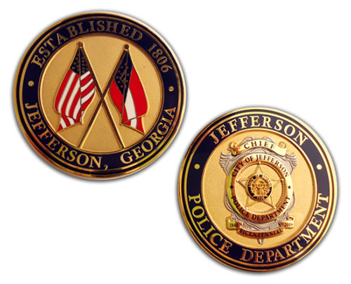 GA Jefferson Police Department  Coin