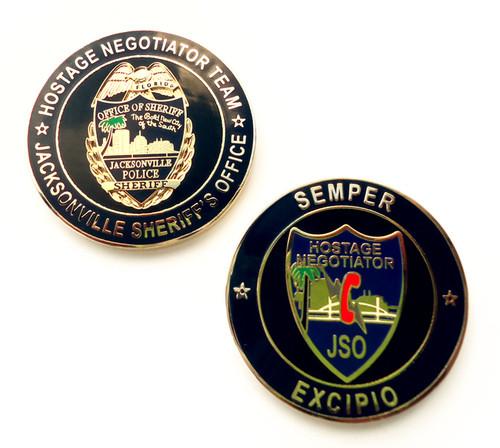 FL Jacksonville Sheriff`s Office Hostage Negotiator Team Coin