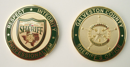 Galveston County Sheriff`s Office Deputy Sheriffs` Association Shield Coin