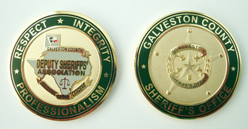 Galveston County Sheriff`s Office Deputy Sheriffs` Association Star Coin