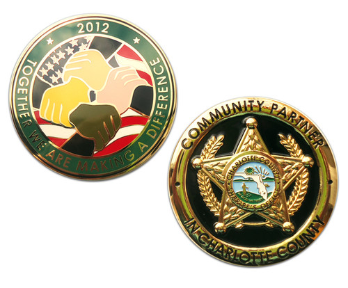 FL Charlotte County Sheriff`s Office Community Partner Coin