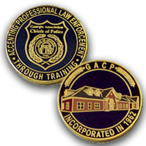 Georgia Association Chiefs of Police Gold Plated Coin