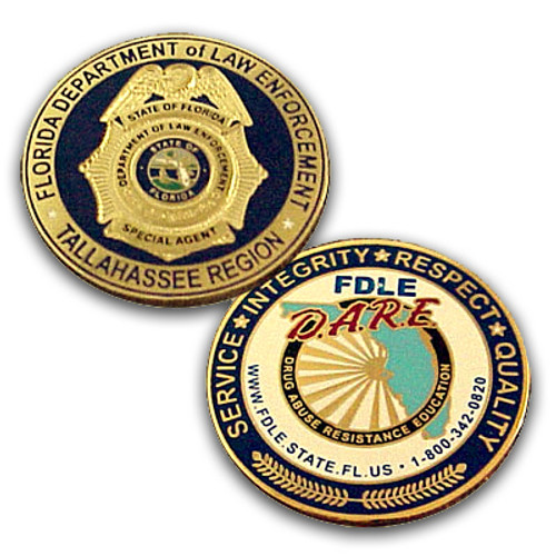 FDLE DARE Tallahassee Region Coin
