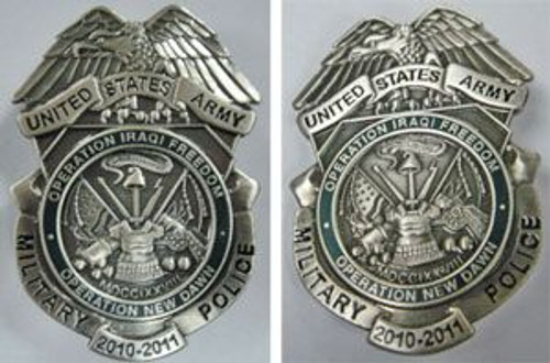 United States Army Military Police Badge 2010-2011