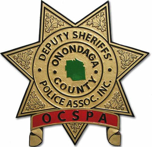 Onondaga County Deputy Sheriffs' Police Association Plaque (All sizes)